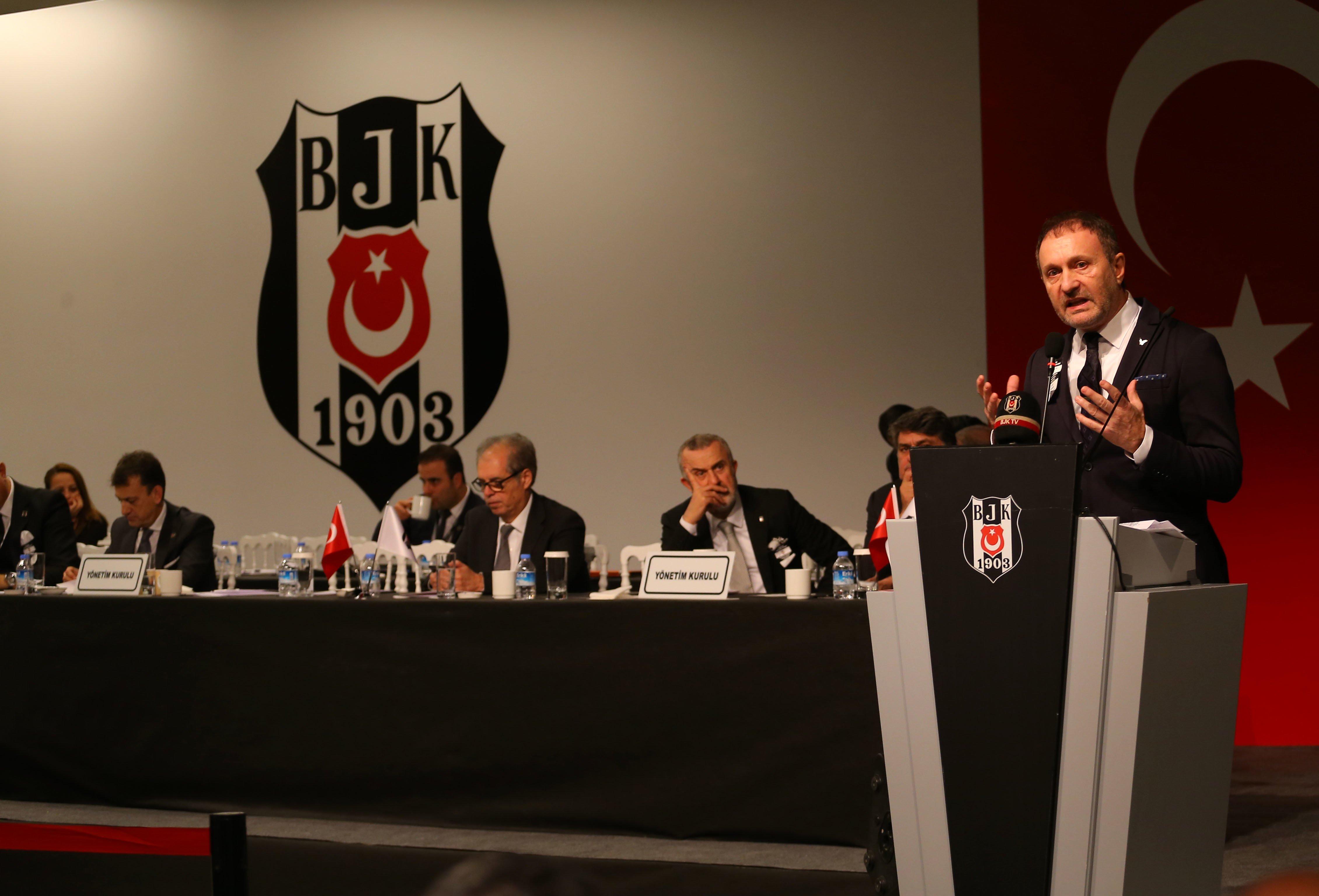 Hürser Tekinoktay Beşiktaş divan kurulu toplantısında konuştu