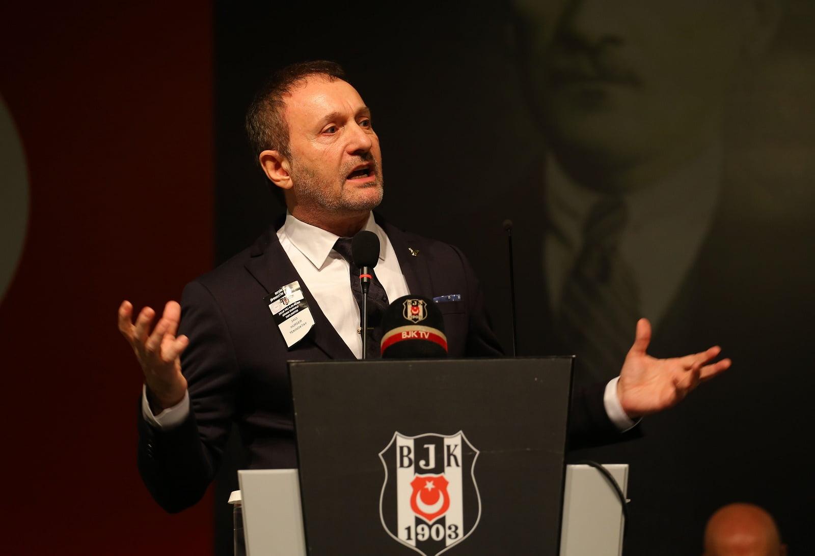 Beşiktaş başkan adayı Hürser Tekinoktay Nişantaşı Üniversitesi'nde panelde