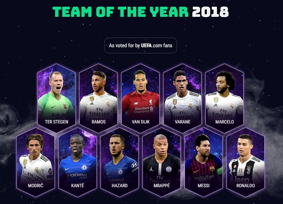 UEFA Yılın 11'i açıklandı
