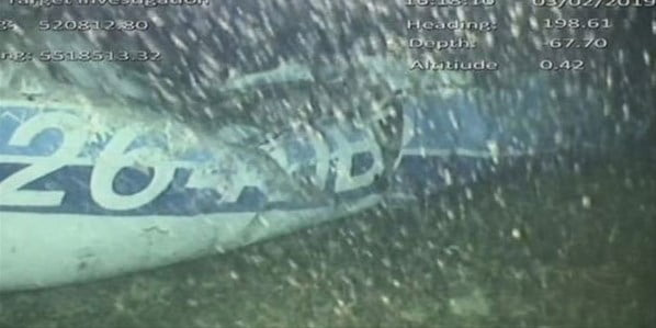 Sala'yı taşıyan uçağın enkazı bulundu