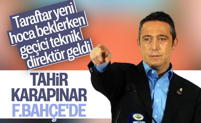 Fenerbahçe Teknik Direktör olarak Tahir Karapınar ile anlaştı