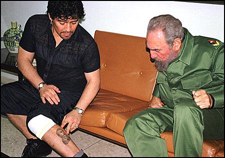 İşte Gerçek Lideler; Maradona ve Castro